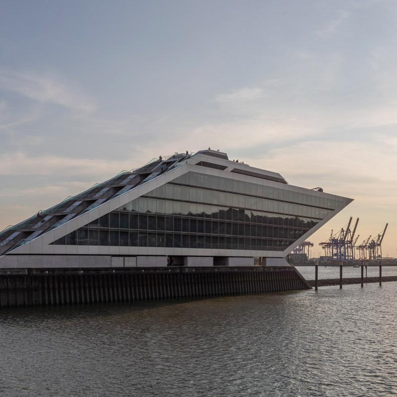 Hamburg Postkarten Set - Motiv: Dockland, Hamburger Hafen