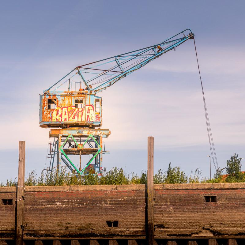 Hamburg Postkarten Set - Motiv: Kran im Billhafen, Hamburger Hafen