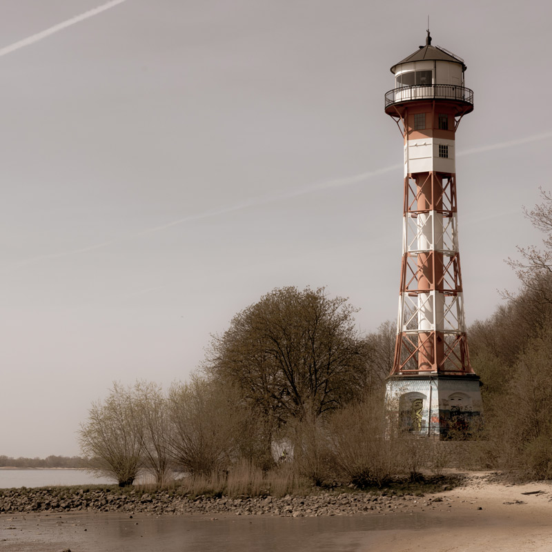 Hamburg Postkarten Set - Motiv: Leuchtturm Rissen